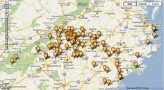 Map of NC wineries  who wants to go!!!!
