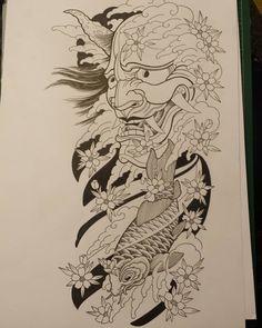 Base work done shading and colour time. Base work done shading and colour time. Sketch Tattoo Design, Samurai Tattoo Design, Ancient Art Tattoo, Japanese Tattoo Designs, Drawings, Samurai Artwork, Sleeve Tattoos, Japanese Tattoo, Tattoo Designs