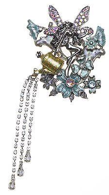 KIRKS FOLLY ENCHANTED GARDEN FAIRY PIN silvertone