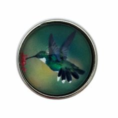 Hummingbird Snap Charm 20mm Snap For Ginger Snap Type Jewelry