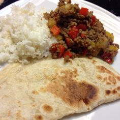 Ground Beef w/ Bell Peppers - White Rice