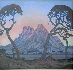 Mountain paintings: MONTS-AUX-SOURCES BY JACOBUS HENDRIK PIERNEEF