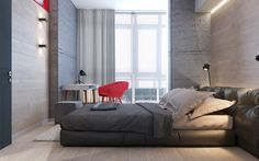 52 sq m bright appartment for an active young personMade for Zik-Zak studio: https://zikzak.com.ua/ Designer/vizualizer: Olia Pietunova 2016