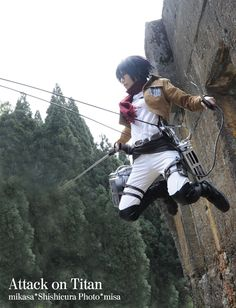 Attack on Titan cosplay.