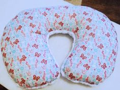 Owl and Butterfly Boppy Pillow Girl Nursing by Happynightowls