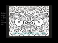 Timelapse Coloring Book Art Fey Enchantress By Cristina McAllister