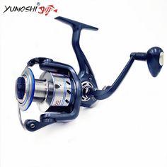 Yumoshi Cheap 13 Bearings Ratio 5.1:1 Fishing Spinning Reel Saltwater  Big Game Fishing Jigging Reels Spinning Low Profit Reel