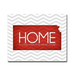 Kansas: Home is Where Your Heart Never Leaves - 8x10 Digital Art Printable $10