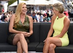 Good times: Candis laughed while chatting with Extra host Charissa Thompson