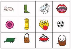 Son dibujos de palabras de los distintos fonemas; se pueden ampliar para jugar con toda la clase al bingo y al memory. También se puede trabajar la semántica (definir la …