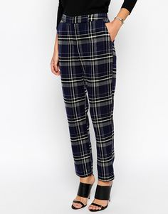 Image 4 of ASOS Cigarette Pant in Premium Check co-ord
