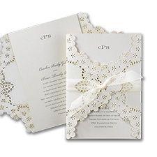 Elegant Floral Lace - Invitation www.dmeventsanddesign.com