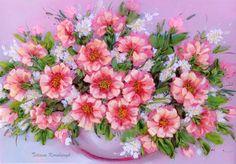 Ricamo   Il vaso con i fiori2   Silk di SilkRibbonembroidery