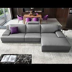 Awesome Design Leder Eckcouch Ecksofa Sofa Couchgarnitur Wohnlandschaft Polsterecke Eckgarnitur