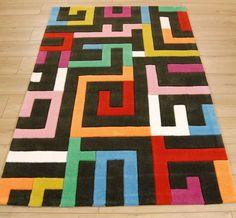 Flamingo Road 3130/75 Charcoal / Multi Rugs | Modern Rugs