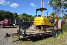 Construction Excavator on our Tandem Axle trailer Equipment Trailers, Tandem, 4x4, Construction, Trucks, Accessories, Building, Truck, Tandem Bikes