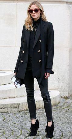 street style. all black.