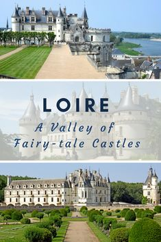 """The Loire Valley is full of freestone chateaux scattered along the Loire river, from Chambord to Amboise, from Chenonceau to Chinon, built with all the grandeur of the Middle Ages and Renaissance periods. Officially there are about 42 """"Chateaux de la Loire"""" but if you are ready to drift away from the Loire River, you'll discover hundreds of architectural gems, which have remained unknown to most travelers. #France #Loire #tours #travel"""