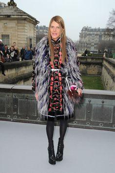 Anna Dello Russo and Fendi Fall 2013 RTW Fur Coat