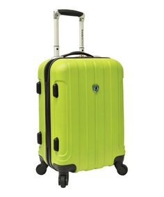 Take a look at this Apple Green Cambridge 20'' Wheeled Carry-On by Traveler's Choice Travelware on #zulily today!