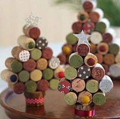 Christmas tree made with wine corks