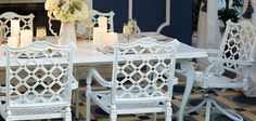 I adore this white furniture from Frontgate.  Indoors or out!