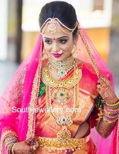 Bride Manasa Reddy in her Wedding Jewellery