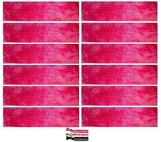 Kenz Laurenz Soft and Stretchy Elastic Cotton Headbands, (Pack of 12) - Pink Tie Dye