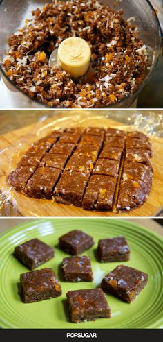 Vegan Almond Butter Apricot Bites - This No-Bake Treat Will Satisfy Your Chewy Cookie Cravings Paleo Treats, No Bake Treats, Healthy Desserts, Dessert Recipes, Paleo Appetizers, Healthy Cookies, Raw Almonds, Food Processor Recipes, Cravings
