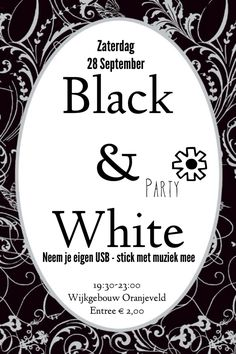 Black And White Party Invitation 15 00 Via Etsy Master