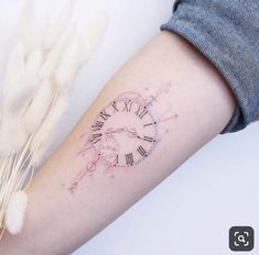 60 Gorgeous Tattoos Your Friends Will Hate You For - Straight Blasted - A clock by Tina Choi - Foot Tattoos, Sexy Tattoos, Cute Tattoos, Small Tattoos, Tattoo You, Arm Tattoo, Sleeve Tattoos, Samoan Tattoo, Polynesian Tattoos