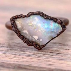 Raw Australian Opal and Copper Ring || Available in our 'Earthly Treasures' Collection || www.indieandharper.com