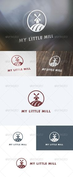 My Little Mill  Logo Design Template Vector #logotype Download it here:  http://graphicriver.net/item/my-little-mill-logo/5657639?s_rank=1731?ref=nesto