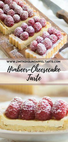 Himbeer-Cheesecake-Tarte - der Traum einer Sommertarte - ganz einfach, ganz leicht, super lecker und easy peasy gemacht. Passt auf ein sommerliches Kuchenbuffet genau so gut, wie als Muttertags-Kuchen oder zum Brunchen - schmeckt himmlisch leicht und fruchtig #himbeeren #tarte #cheesecake #einfach Raspberry cheesecake tar