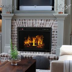 youu0027ll love the ventless wall mount electric fireplace insert at wayfair great deals