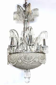 chandelier. Would look beautiful in the foyer of a Victorian home.
