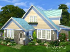 The Marysville is a family home built on a 20 x 20 lot.  Found in TSR Category 'Sims 4 Residential Lots'