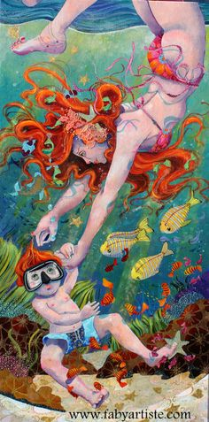 """""""Le grand bain !"""" - By Faby Artiste"""