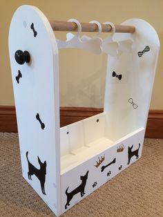 Pet grooming wardrobe storage lap dog clothes hanger by geckogear Puppy Collars, Leather Dog Collars, Dog Dresser, Dress Up Storage, Clothes Storage, Dog Closet, Pet Clothes, Clothes Hangers, Clothes Rail