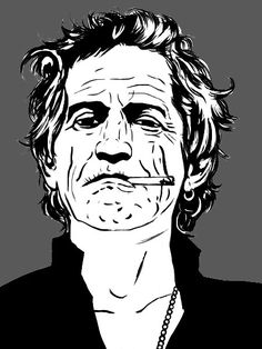 Keith Richards by Liko on DeviantArt Greatest Rock Bands, Scroll Saw Patterns, Keith Richards, Rolling Stones, Rock N Roll, Painting & Drawing, Digital Art, Deviantart, Portrait