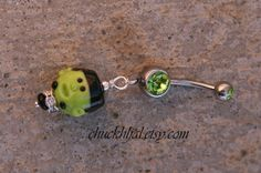 Frankenstein Lampwork Halloween Themed Boo DeSIGNeR Belly Button Ring for sale by chuckhljal, $25.00