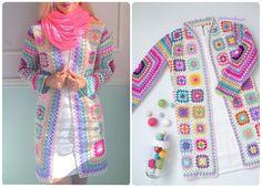 Crochet Handbags, Crochet Fashion, Handicraft, Lana, Kimono Top, Sweaters, Tops, Women, Crochet Cardigan