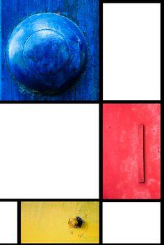 photographic tribute to P.Mondrian