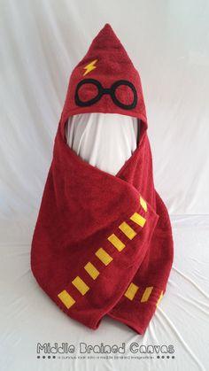 Toalla de baño con capucha inspirado en Harry Potter