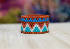 PEYOTE RING  Indian Summer Collection  Ring A by PeyoteRings