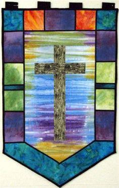 Cross quilt banner