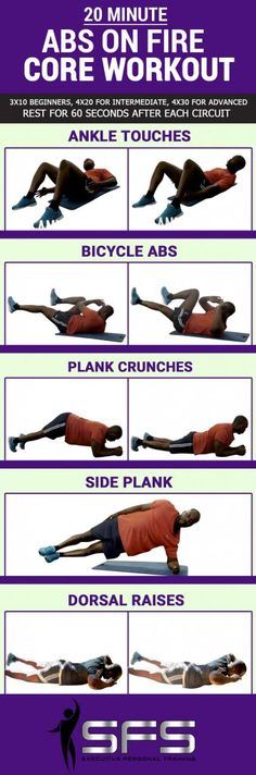 20 Minute Ab Workout | 12 Twenty Minute Ab Workouts