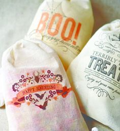Printable heat transfer treat bags