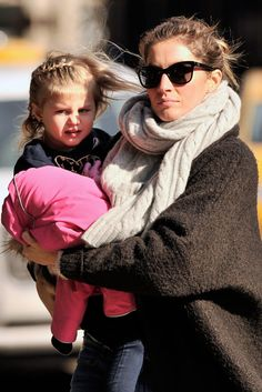 Gisele Bündchen's Mommy-and-Me Trick for Perfect Winter Hair