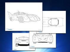 Themed Printables: The Batmobile | DC Comics